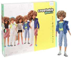 Creatable World Deluxe Character Kit Customizable Doll, Blonde Curly Hair
