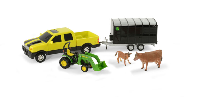 John Deere Animal Hauling Set, John Deere Pick Up with Cows