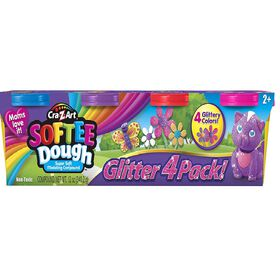 Cra-Z-Art - Softee Dough - 4 Pack Glitter