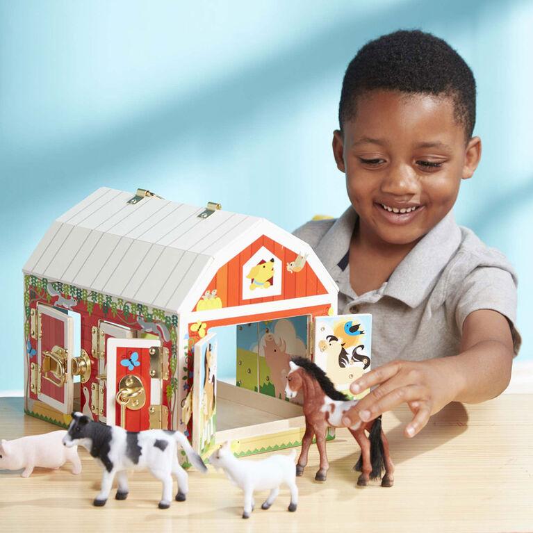 Melissa & Doug Latches Wooden Activity Barn