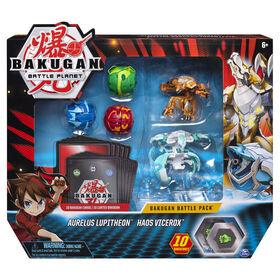 Bakugan, Battle Pack 5-Pack, Aurelus Lupitheon and Haos Vicerox