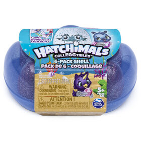 Hatchimals CollEGGtibles, Mermal Magic 6 Pack Shell Carrying Case with Season 5 Hatchimals CollEGGtibles (Color May Vary)