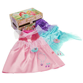 Disney Princess Ariel & Aurora Dress up Trunk Pretend Play Toys