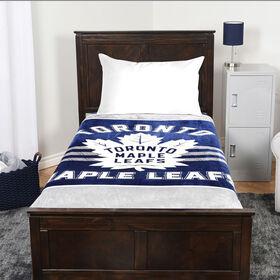 NHL Luxury Velour Blanket - Toronto Maple Leafs