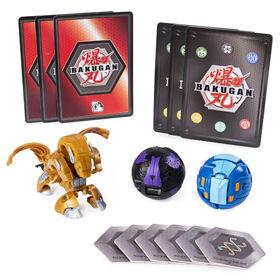 Bakugan Starter Pack 3-Pack, Aurelus Howlkor, Collectible Transforming Creatures