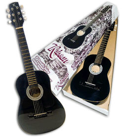 "Robson - 30"" Junior Acoustic Guitar - Black - Exclusive"