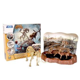 Dr. Steve Hunters - Tar Pits Explorer Slime Dig Kit - Saber Tooth Tiger vs. Mammoth