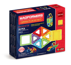 Magformers Window Plus 40 Pieces Rainbow Colors
