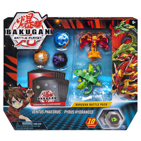 Bakugan, Battle Pack 5-Pack, Ventus Phaedrus and Pyrus Hydranoid