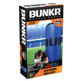 BUNKR Inflatable Blue Barrel for Blaster Battles