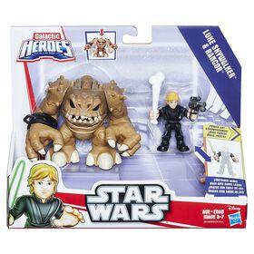 Star Wars Galactic Heroes Luke Skywalker and Rancor