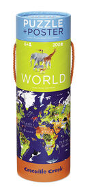 Crocodile Creek - World Map 200 piece Jigsaw Puzzle and Matching Poster