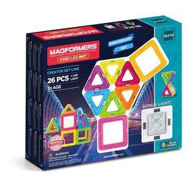 Ensemble Magformers Neon de 26 pièces avec lumière en prime.