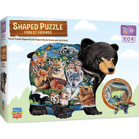 Shaped Forest Friends Right Fit - 100 Piece Kids Puzzle By Jenny Newland
