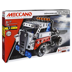 Meccano - Race Truck Model Vehicle Building Kit, STEM Construction Education Toy