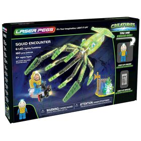 Laser Pegs Creatures Collection - Squid Encounter 160 pieces