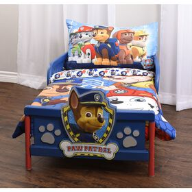 PAW Patrol 3-Piece Toddler Bedding Set - Chase, Rubble, And Marshall.