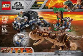 LEGO Jurassic World La fuite de Carnotaurus de la Gyrosphère 75929