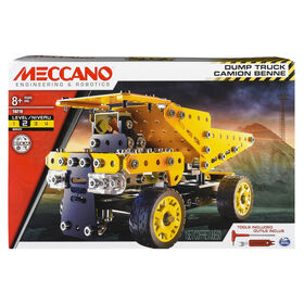 Meccano - Dump Truck Model Vehicle Building Kit, STEM Construction Education Toy