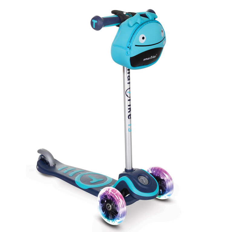 smarTrike - T3 scooTer - Blue with lights