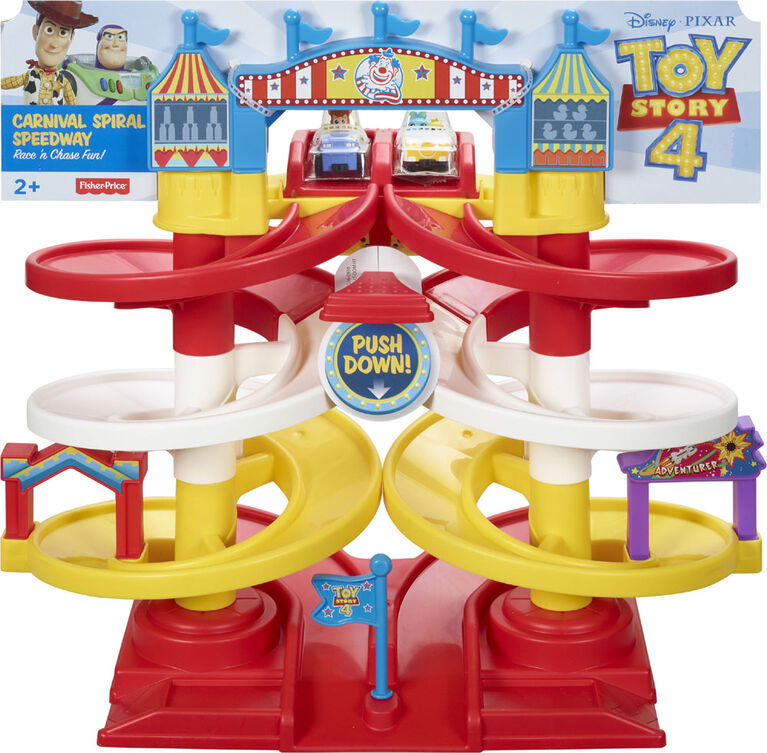 Disney Pixar Toy Story 4 Carnival Spiral Speedway - English Edition