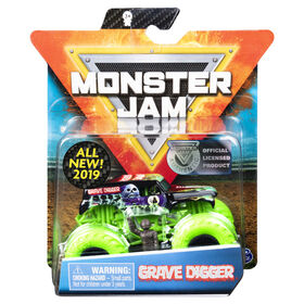 Monster Jam, Official Grave Digger Monster Truck, Nitro Neon Series, 1:64 Scale