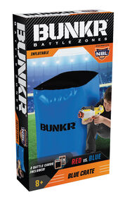 BUNKR Inflatable Blue Crate for Blaster Battles