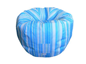 Boscoman - Teen Round Striped Bean Bag - Blue / Green