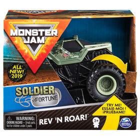 Monster Jam, Monster truck authentique Soldier Fortune Rev 'N Roar à l'échelle 1:43.