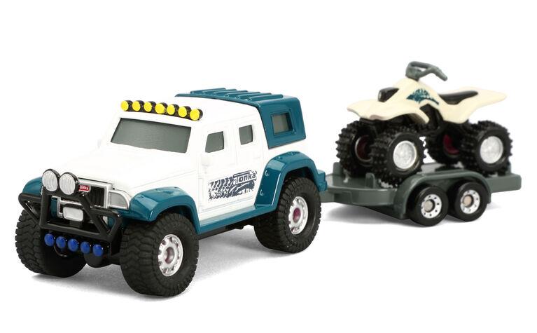 "Tonka Hitch""em up Vechicles - 4X4 Hauler with ATV"
