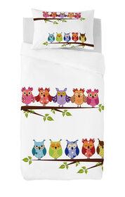 Gouchee Design - Buhos Digital Print Twin Duvet Cover Set - Owls On Branch