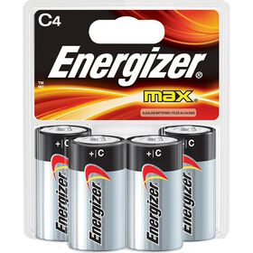 Energizer Max -  Paquet 4 piles C