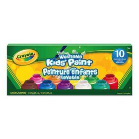 Crayola Washable Kids' Paint, 10 Ct
