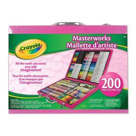 Crayola - Masterworks Art Case-Pink - Exclusive
