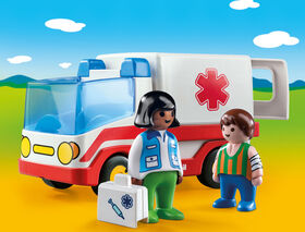 Playmobil 1.2.3. - Rescue Ambulance (9122)