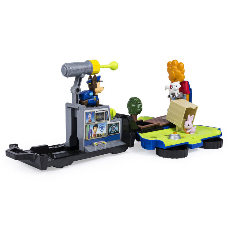 PAW Patrol, Chase's Ride 'n' Rescue, Transforming 2-in-1 Playset and Police Cruiser