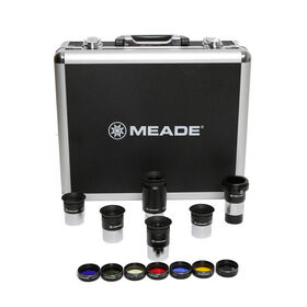 Meade Eyepiece Kit 5 Plossl 125 Barlow Filters 607001