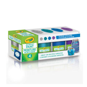 Crayola Multi-Surface Acrylic Paint, Ocean Colours