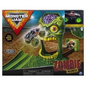 Coffret officiel Zombie Madness avec monster truck Zombie authentique en métal moulé à l'échelle 1:64.