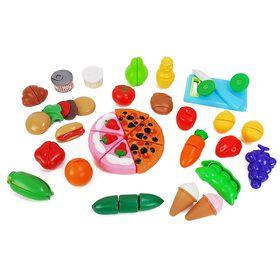 Just Like Home - 35 Piece Jumbo Slice & Play Food Set (Styles may vary)