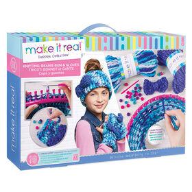 Beanie Bun & Glove Knitting Set