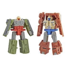 Transformers Generations War for Cybertron: Siege - Duo de figurines Micromaster Patrouille de combat Autobot.