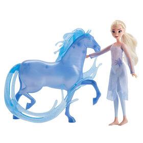 Disney Frozen - Poupée mannequin Elsa et la figurine Nokk