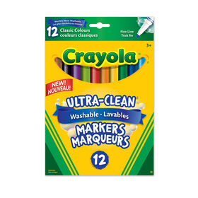 12 Washable Fine Line Markers