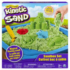 Kinetic Sand, Sandbox Playset with 1lb of Green Kinetic Sand