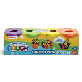Nick Jr Ready Steady Dough 4 Jumbo Pots Hot Colours