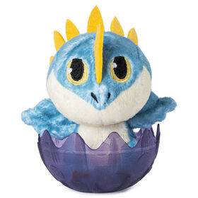 Comment entraîner son dragon, Peluche bébé Tempête de 7,62 cm, adorable peluche dragon dans son oeuf à collectionner.