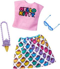 Barbie Hello Kitty Shirt & Skirt Fashion Pack