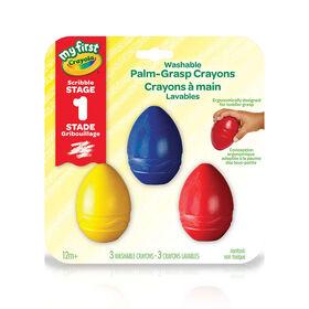 Crayola - My First WASH Palm-Grip Crayons