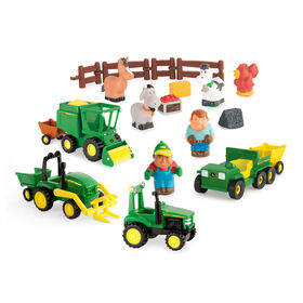 TOMY John Deere 1st Farming Fun, On The Farm Playset Preschool Toy